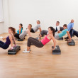 Large group of working out together — Stock Photo