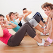 Happy working out in a gym — Stock Photo #15335331