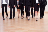Group of business executives approaching — Stok fotoğraf