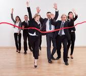 Jubilant business celebrating — Stock Photo