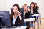Telephonists çağrı merkezi — Stok fotoğraf
