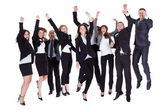 Group of jubilant business — 图库照片