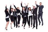 Grupo de negocios jubiloso — Foto de Stock