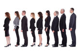 Line of business in profile — Stock Photo