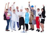 多様な職業を表すのグループ — ストック写真