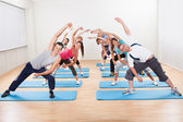 Group of doing aerobics — Stock Photo