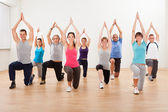 Group of doing aerobics exercises — Stock Photo