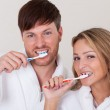 They brushed teeth together — Stock Photo #15716665