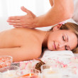 Client relaxing in massage parlor — Stock Photo #15716741