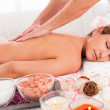Client relaxing in massage parlor — Stock Photo #15716763