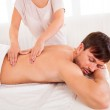 Man having a back massage — Stock Photo #15717099