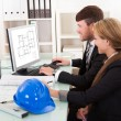 Two architects or structural engineers — Stock Photo