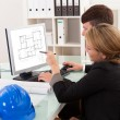 Two architects or structural engineers - Stock Photo