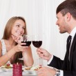 Romantic couple toasting each other — Stock Photo #15717713