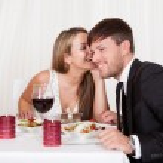 Romantic lovers sharing secrets — Stock Photo
