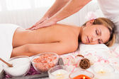 Client relaxing in massage parlor — Stock Photo