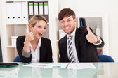 Happy business — Stock Photo