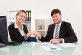 Meeting for joint business venture — Stockfoto