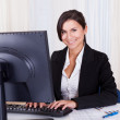 Beautiful businesswoman working at her computer — Stock Photo #15731753