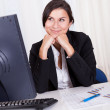 Beautiful businesswoman working at her computer — Stock Photo #15731839