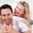 Smiling romantic couple — Stock Photo #17391991