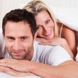 Stock Photo: Smiling romantic couple