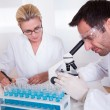 Technicians or medical staff in a laboratory — Stock Photo