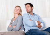Couple have fallen out over a disagreement — Stock Photo