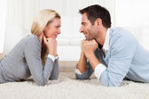 Young couple watching each other — Stock Photo