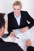 Employment interview and application form — Stock Photo
