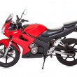 Foto Stock: Red motorcycle
