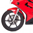 Front wheel of a motorbike — Stock Photo