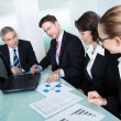 Business meeting for statistical analysis - Foto Stock