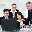 Smiling successful business team — Stock Photo #18597375
