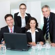 Smiling successful business team — Stock Photo #18597381