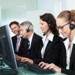 Call centre operators — Stock Photo