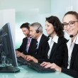 Stock Photo: Call centre operators