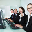 Call centre operators - Stock Photo
