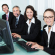Call centre operators — Stock Photo