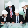 Stock Photo: Meeting of architects or structural engineers