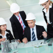 Meeting of architects or structural engineers — Stock Photo #18597475