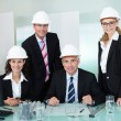 Partners in an architectural firm — Stock Photo