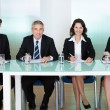 Panel of corporate personnel officers - Stock Photo