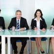 Panel of corporate personnel officers — Stock Photo