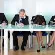 Bored panel of judges or interviewers — Foto Stock