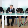 Stock Photo: Bored panel of judges or interviewers