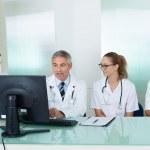 Doctors having a meeting — Stock Photo