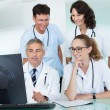 Doctors having a meeting — Stock Photo