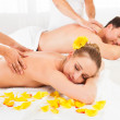Attractive couple having a massage — Stock Photo #18597805