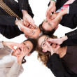Businesspeople calling out — Stock Photo
